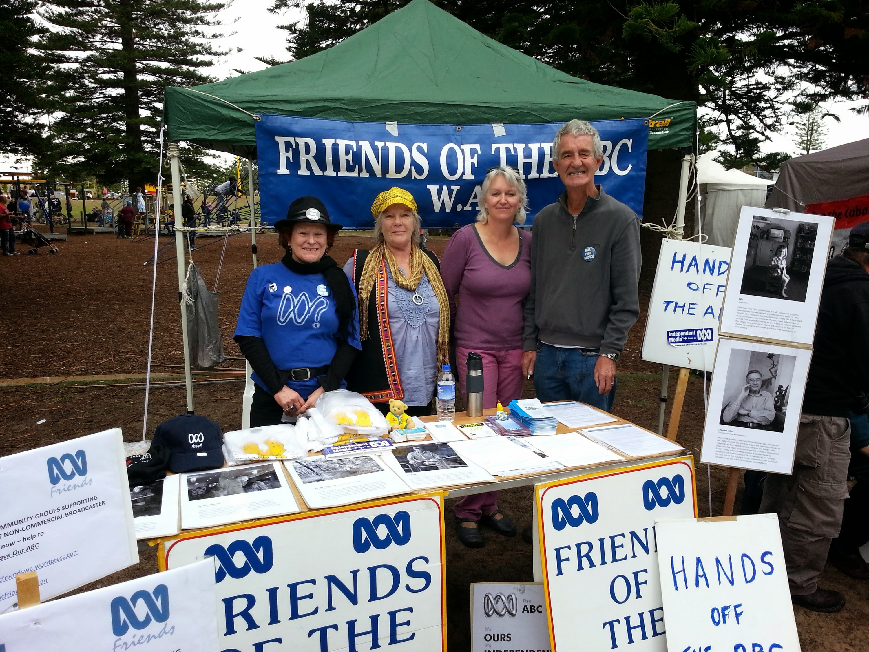 Friends of the ABC in front of their stall at the May Day Festival