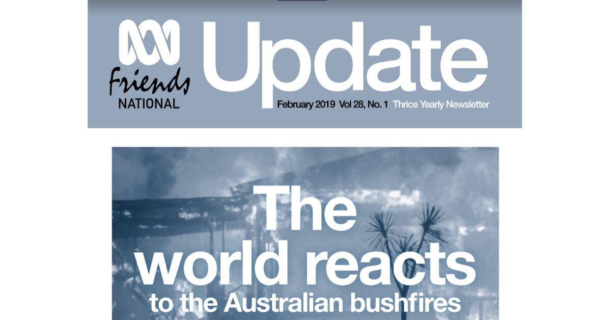 ABC Friends have released a special bushfire edition of Update