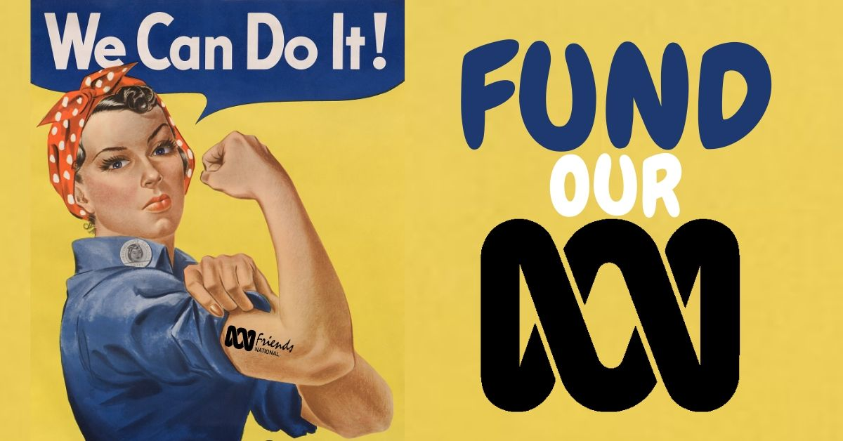 War time poster - We can do it! Fund Our ABC!
