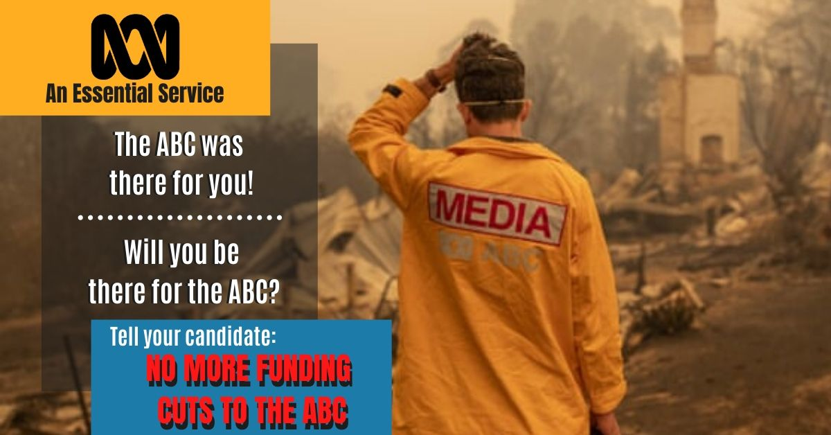 Eden Monaro: tell your candidate no more funding cuts to the ABC