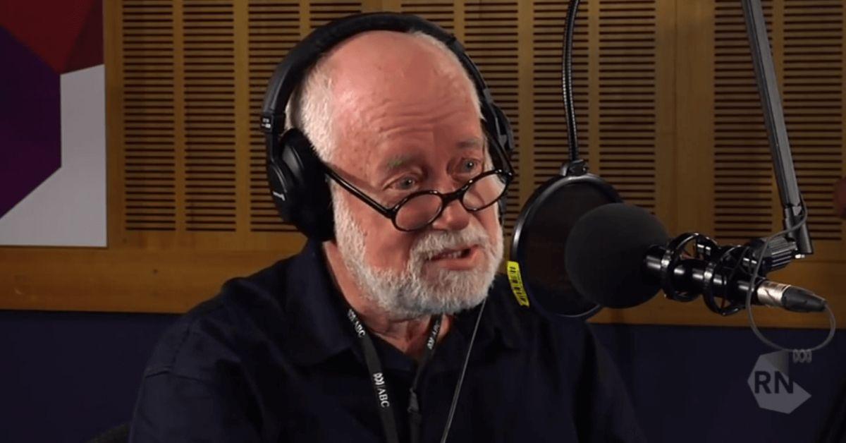 Phillip Adams in an ABC Radio National studio