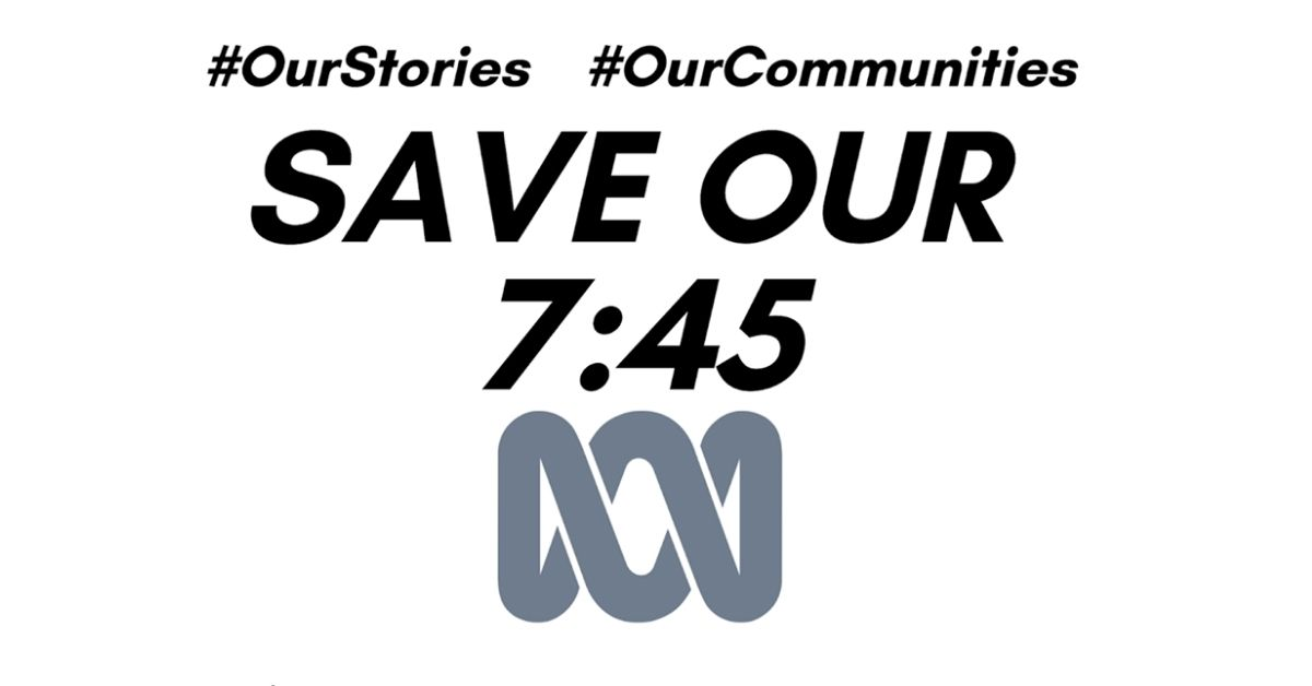 Save Our 7:45 with ABC logo