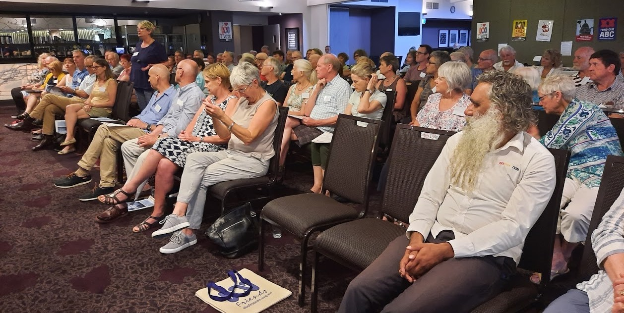 Picture of the audience, 106 people strong