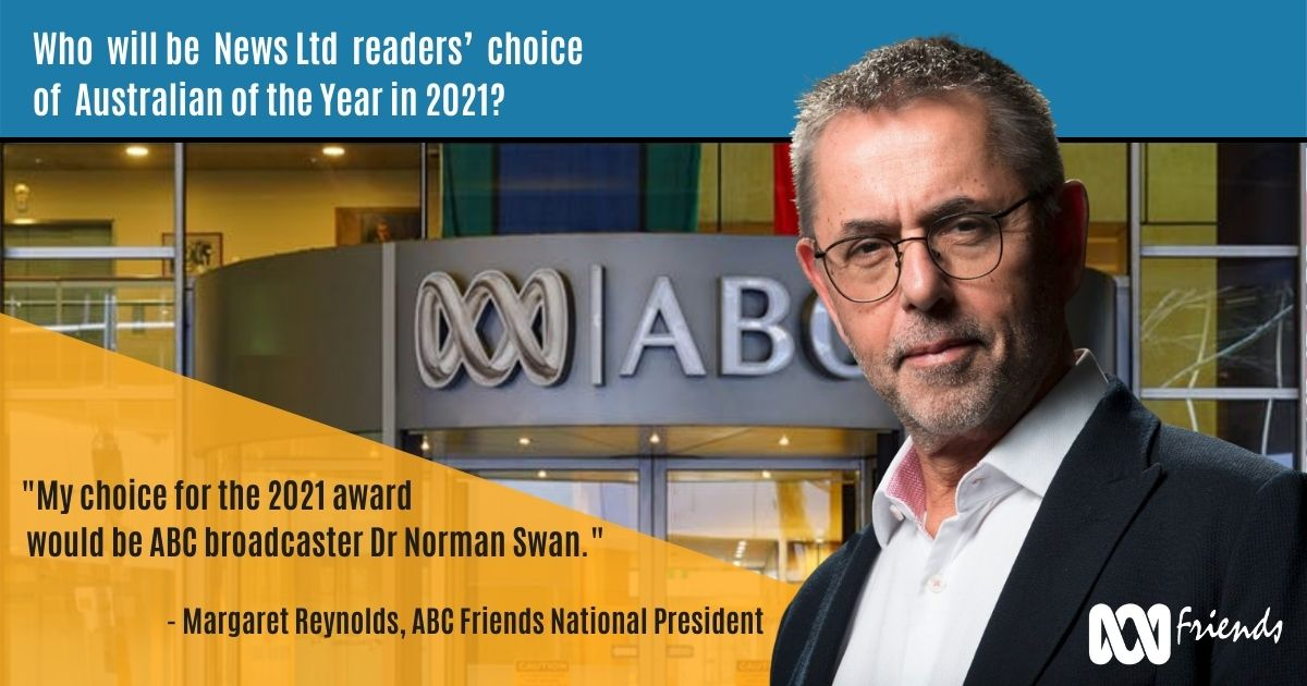 Norman Swan meme with quote from Margaret Reynolds. Quote reads \