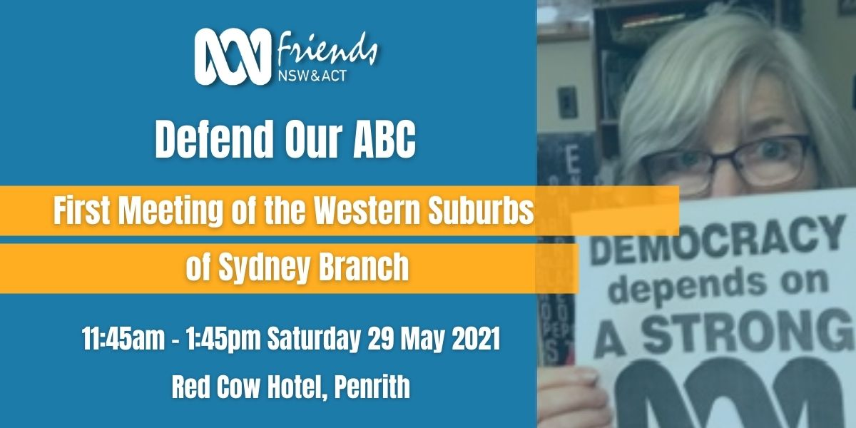 Event details of Western Suburbs of Sydney Branch meeting