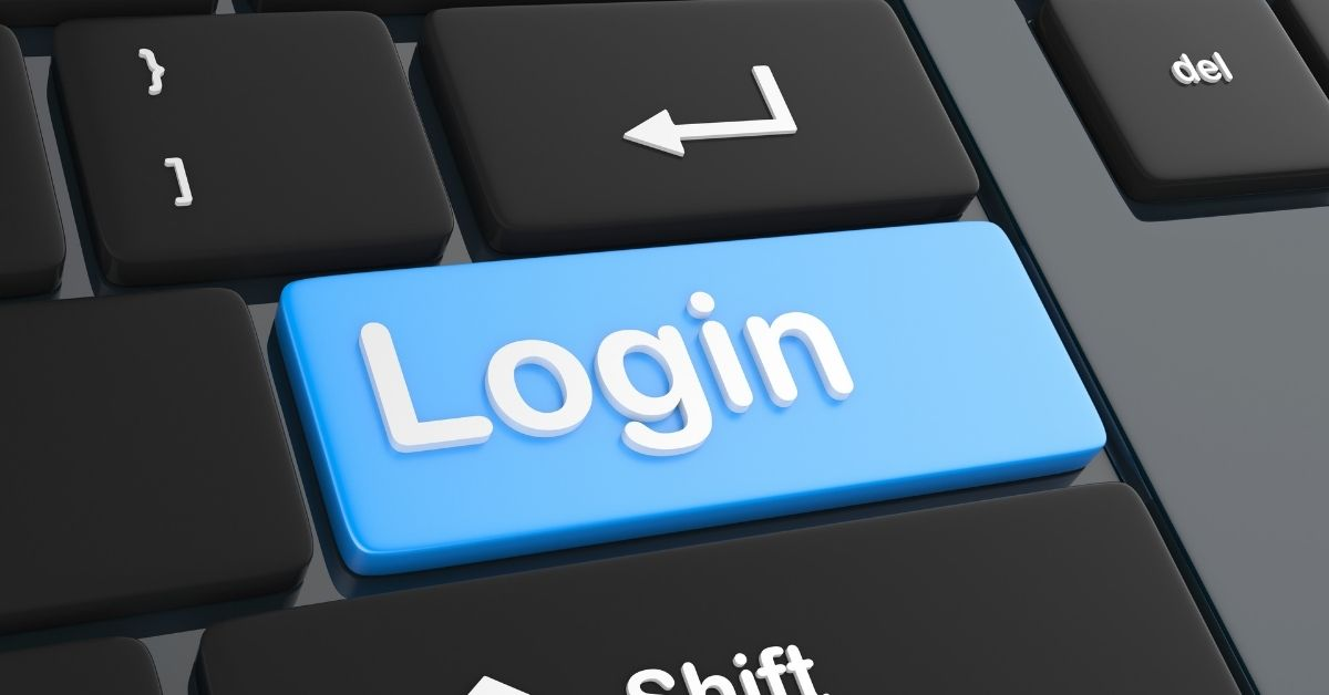 Log in key on computer