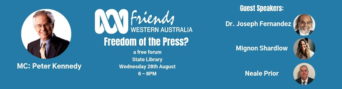 Click here for more information on our Freedom of the Press forum