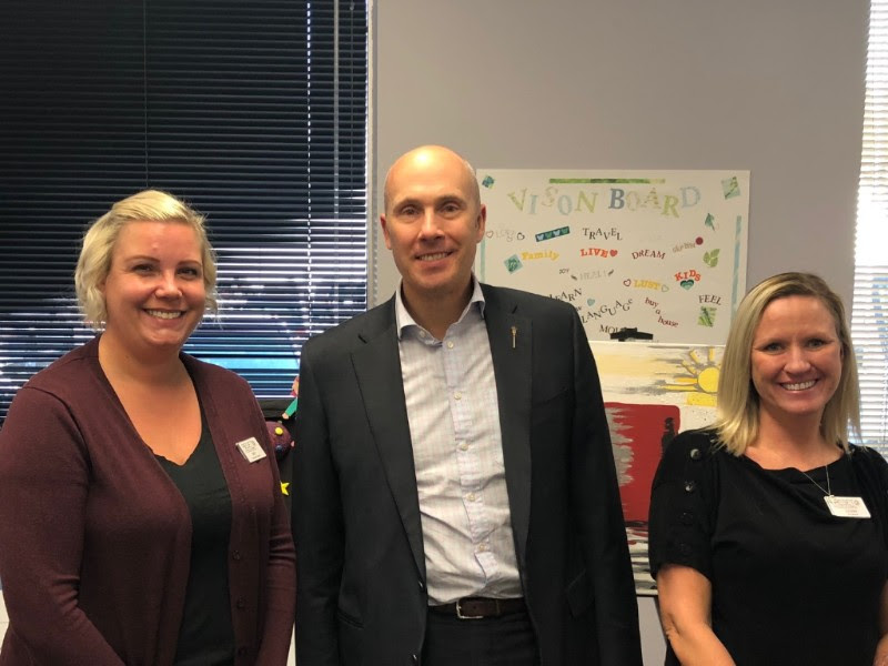 MLA Greg Clark attended the RESET Society open house along with MLA Karen McPherson.  RESET provides programs and support for women exiting sexual exploitation and trafficking.