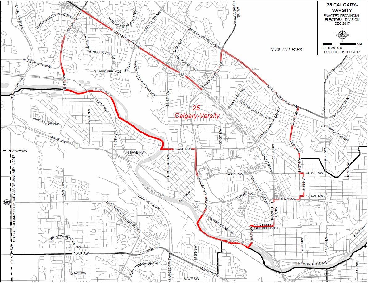 2019 Riding Boundaries for Calgary-Varsity