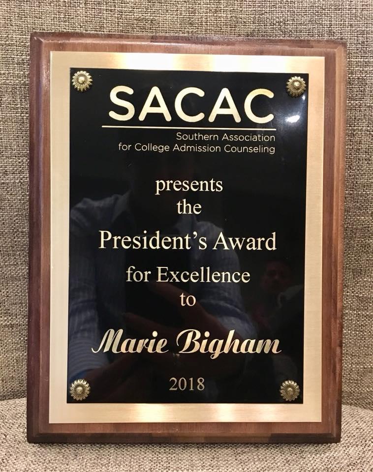 2018 SACAC Presidents Award