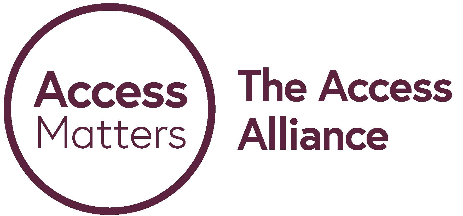Access Matters - The Access Alliance purple logo