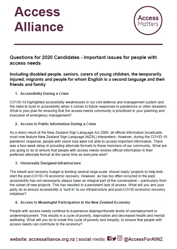 Link to Questions for 2020 Election Candidates document in html
