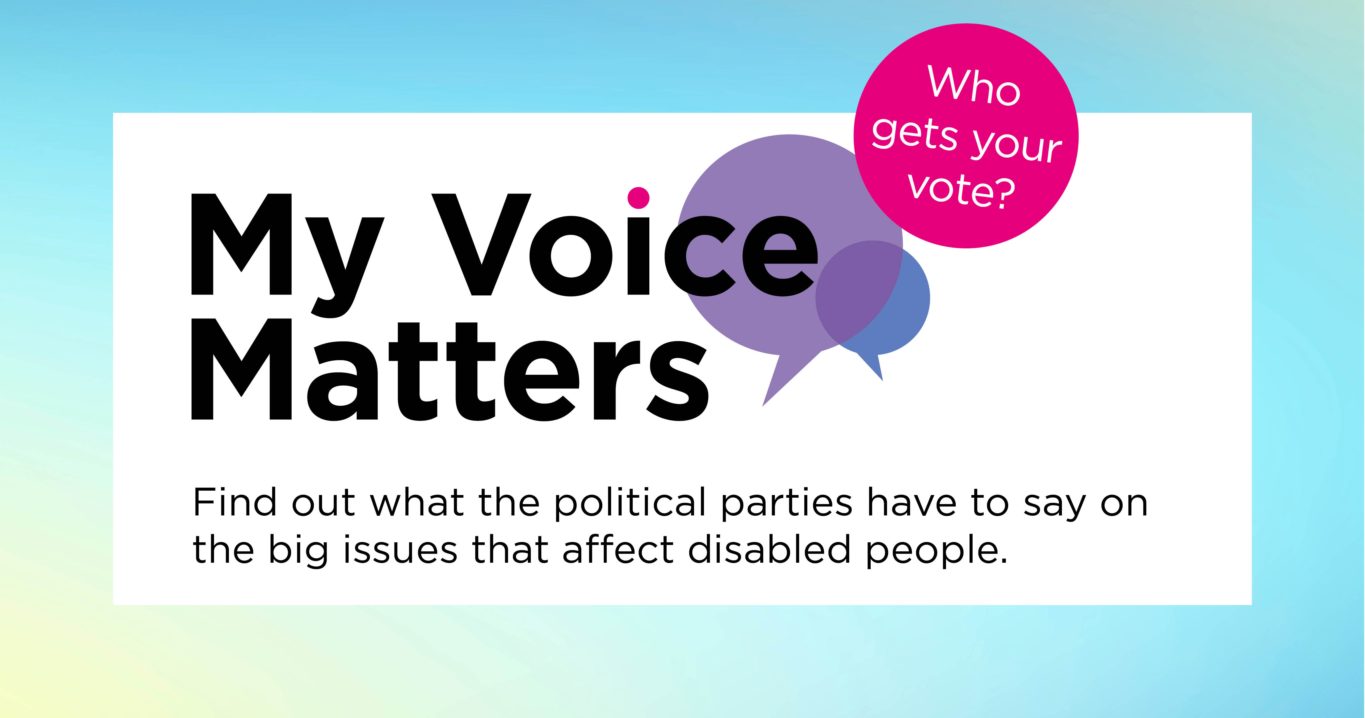 My Voice Matters - Who gets your vote?