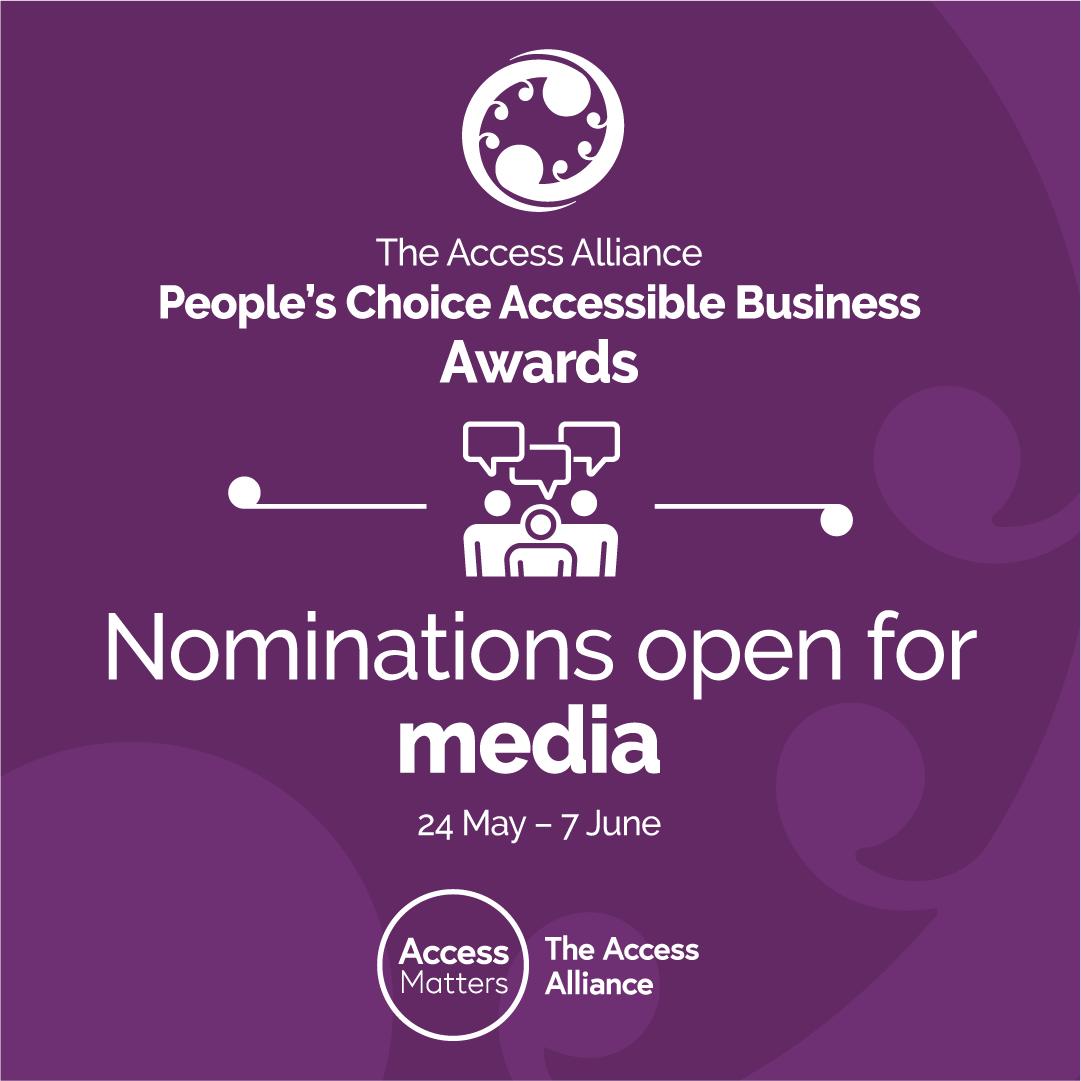 Media nominations purple tile