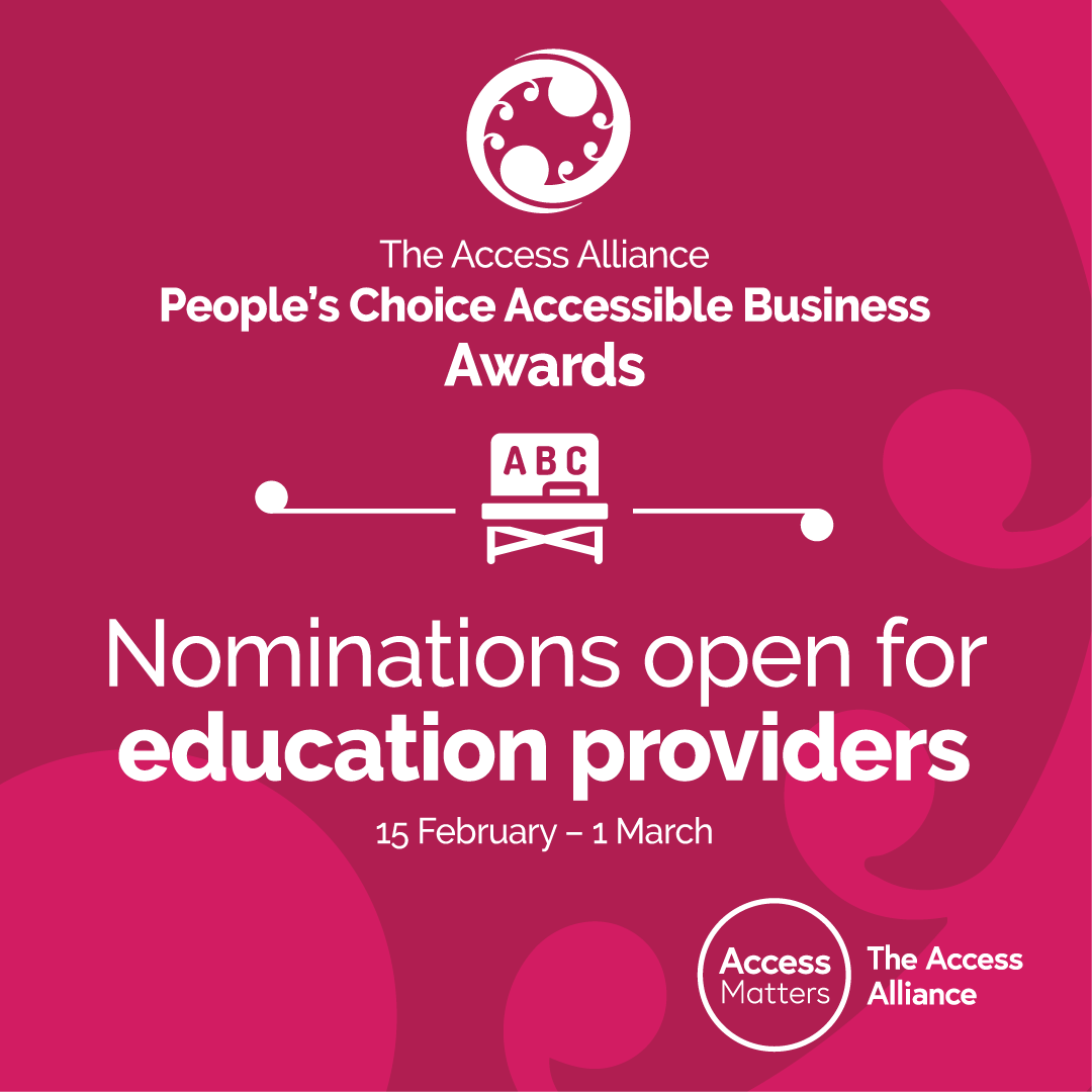 Education nominations - pink tile