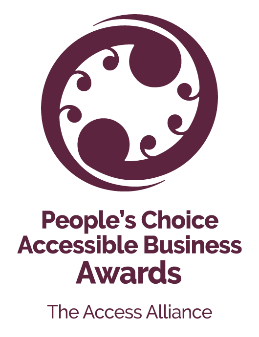 2021 People's Choice Accessible Business Awards - The Access Alliance purple logo