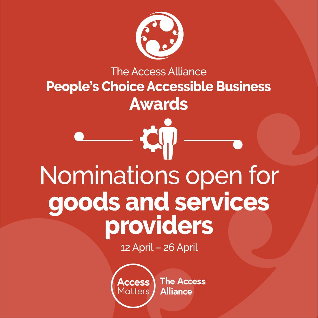 Goods & Services nominations open, orange tile