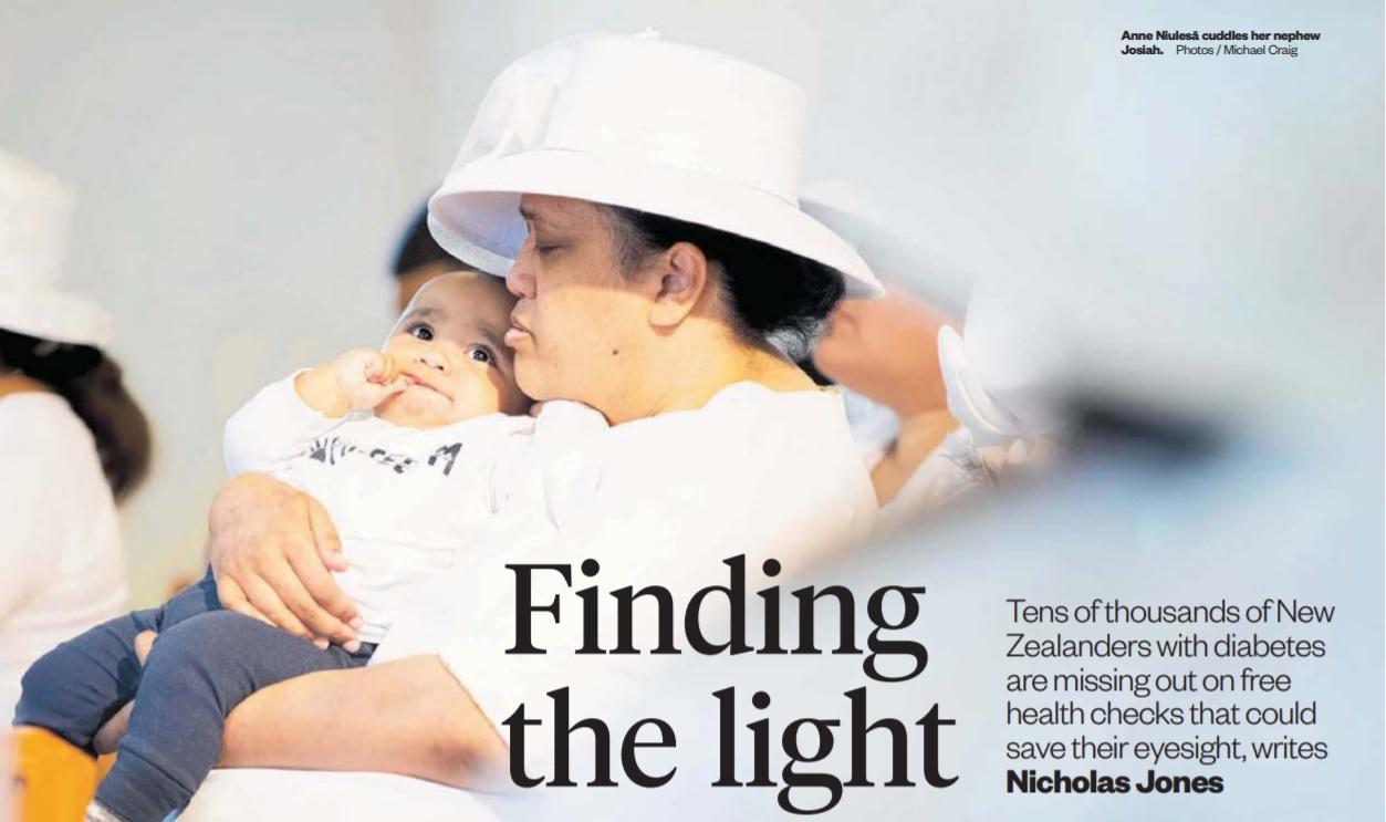 Anne Niulesa cuddles her nephew Josiah