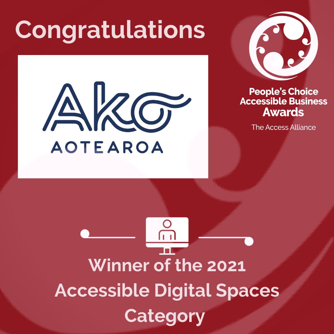 Red Tile: Congrats Ako Aotearoa
