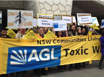 AGL AGM demo re fracking