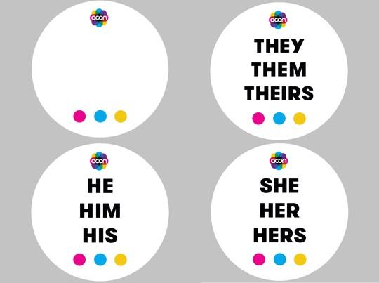 Pride Training Pronoun Badges