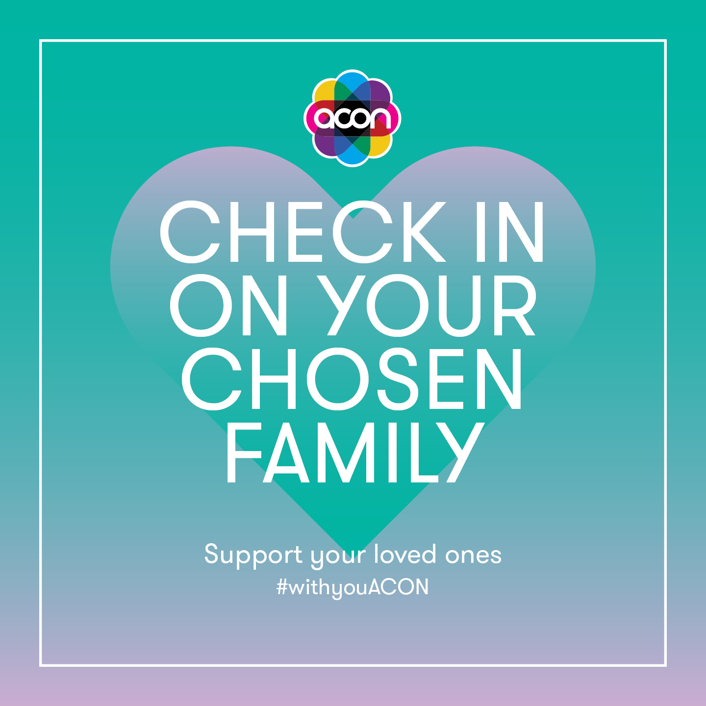 check in with your chosen family