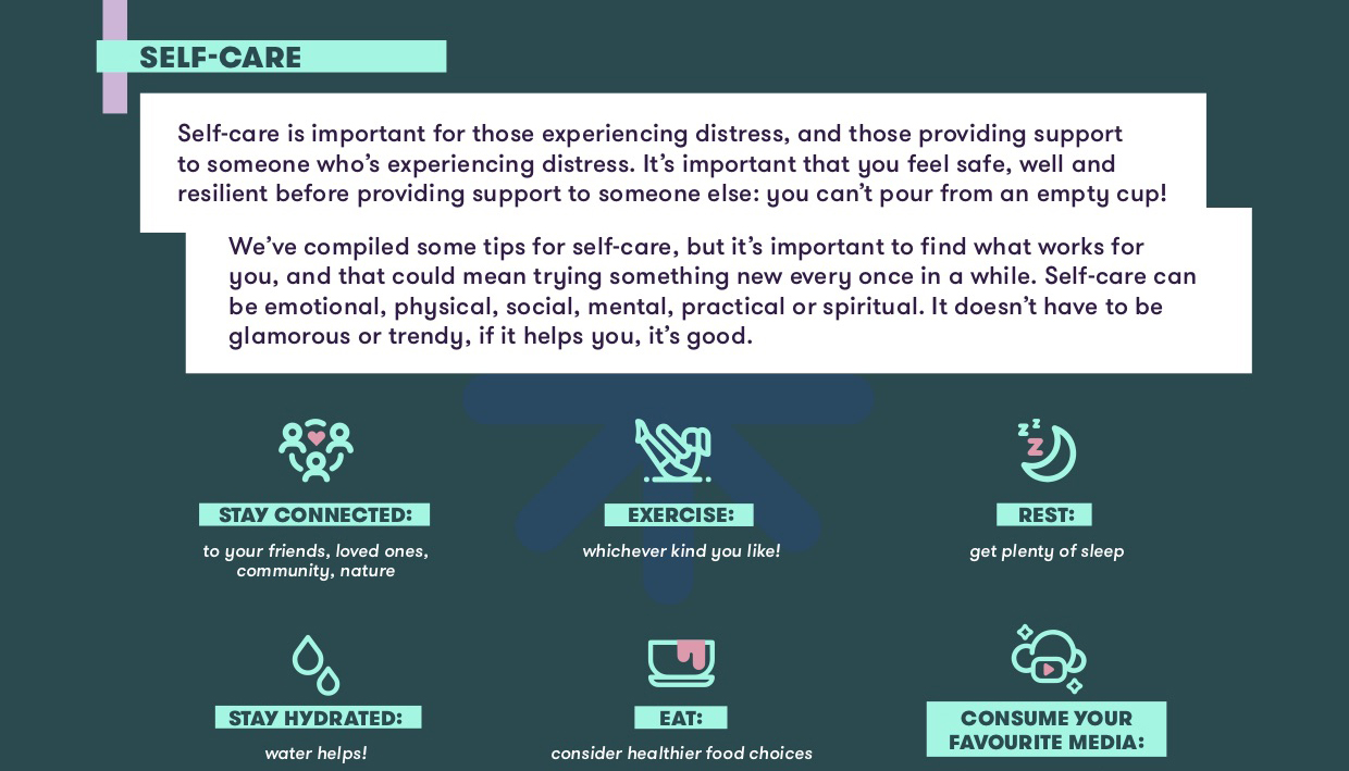 Self care tip sheet - support