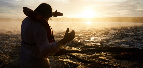 Victor Kossakovsky at Angel Falls, Venezuela.  Photographer: Stine Heilmann.