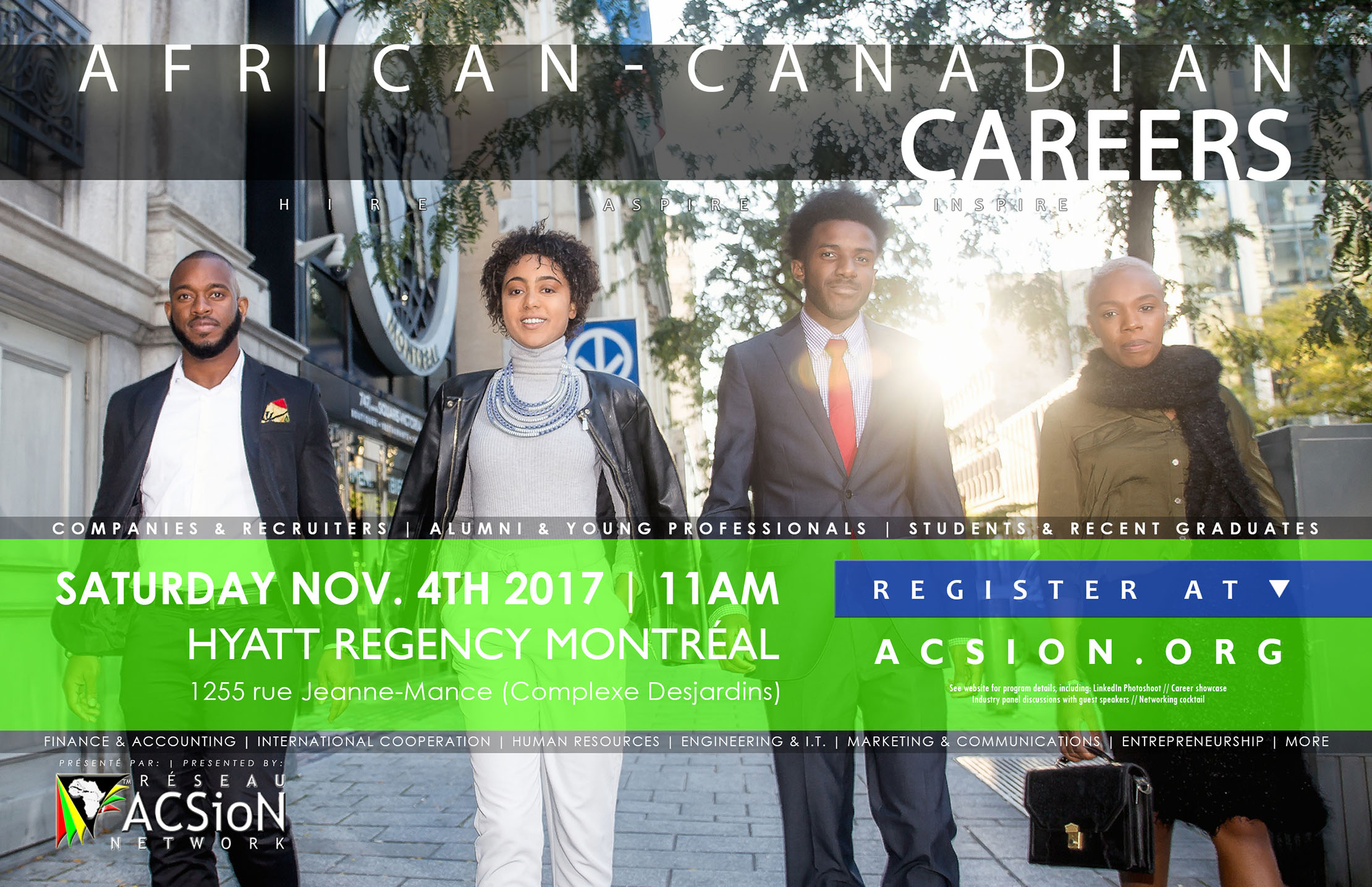 Poster and registration link for African-Canadian Careers 2017