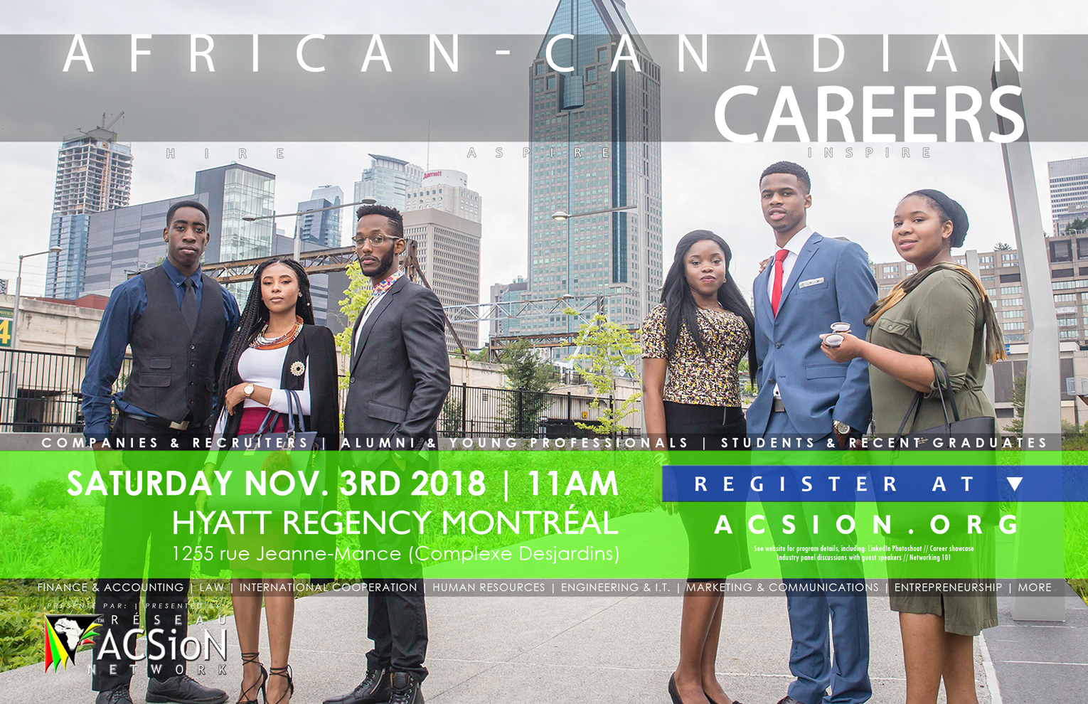 Poster for African-Canadian Careers 2018