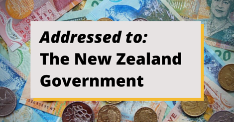 Addressed to: the New Zealand government