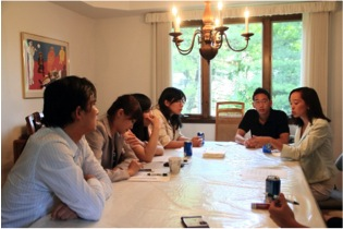 From left to right: Kuo-Chang Huang, Fu-Yi Chou, Pin-Yu Lai, Yu-Fen Lai (Sunflower leaders), Jonathan Lin, and Stephanie Chang