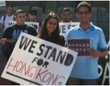 Many students of other ethnicities show support for Hong Kong