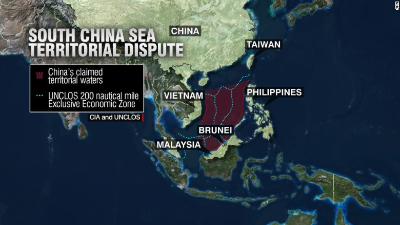 South China Sea dispute. Credit: CNN