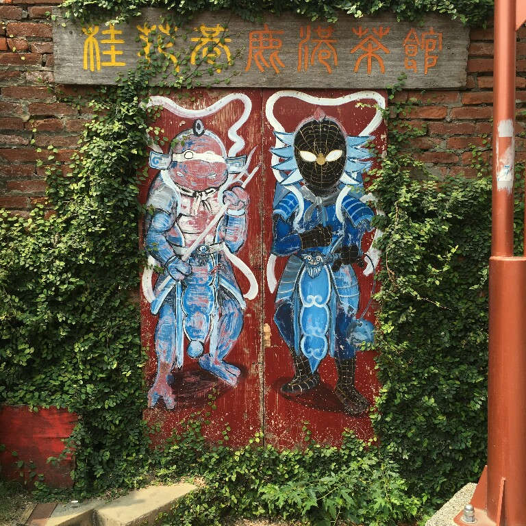 Ninja Turtle and Spider-Man as traditional Door Guardians (門神)