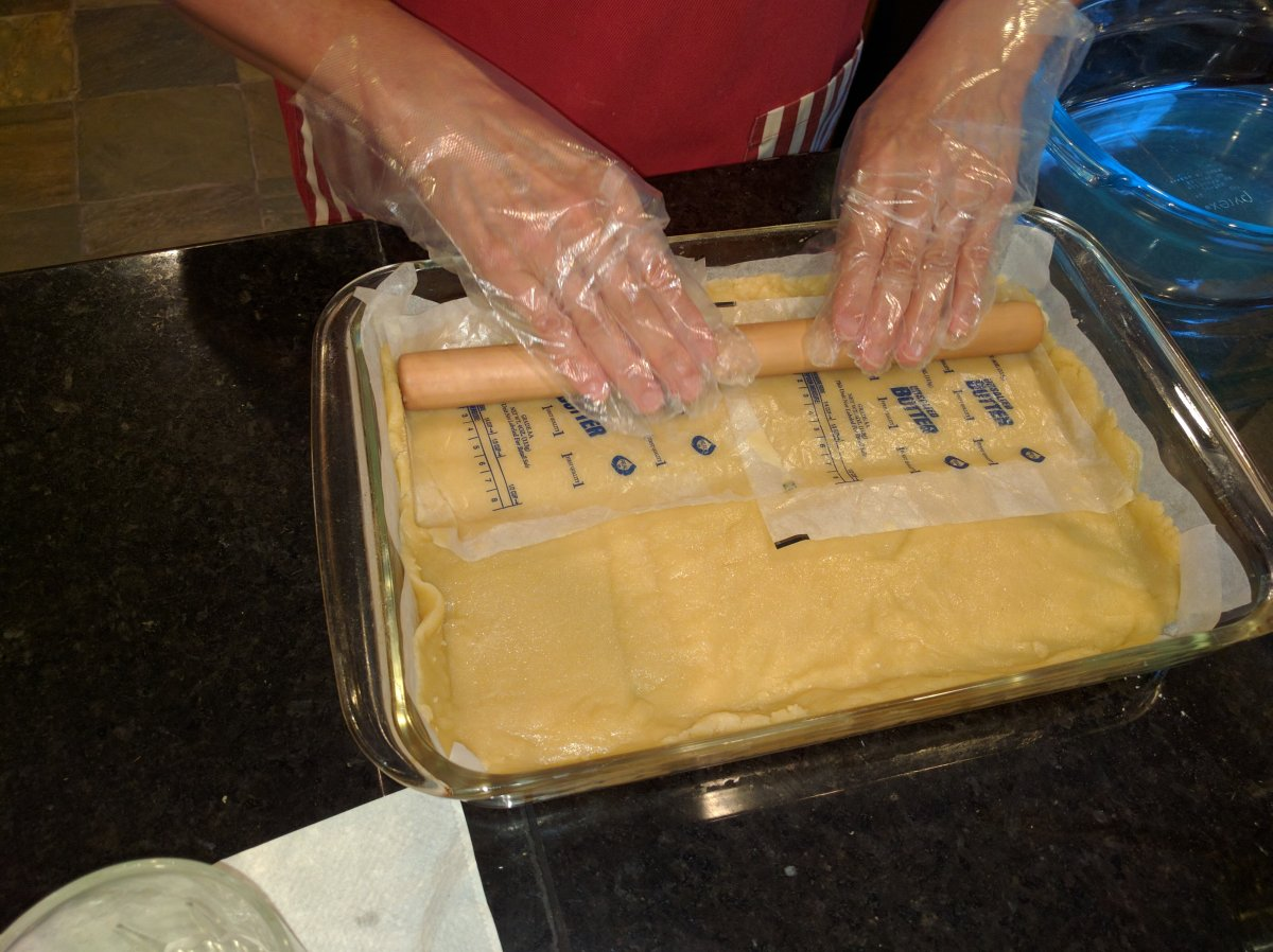 The more civilized-types can use a rolling pin.