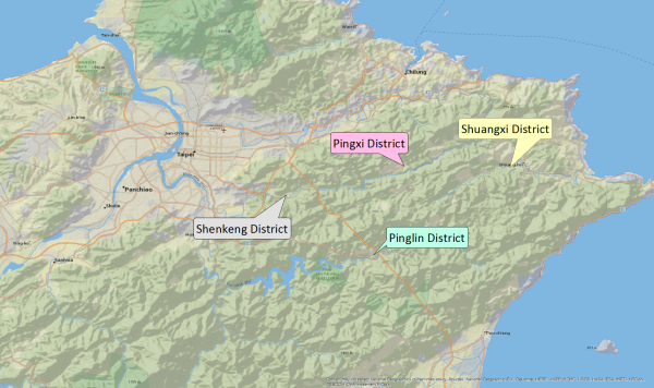 Greater Pingxi Area Map