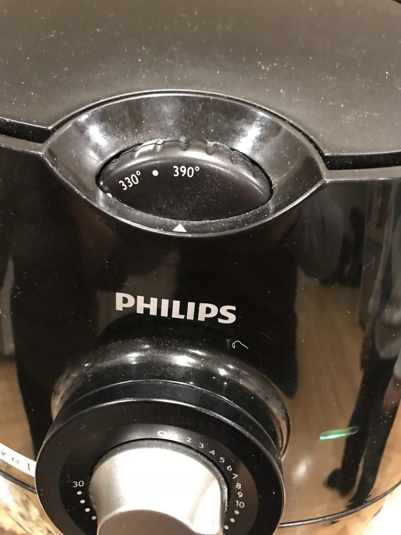 set fryer to 390 degree