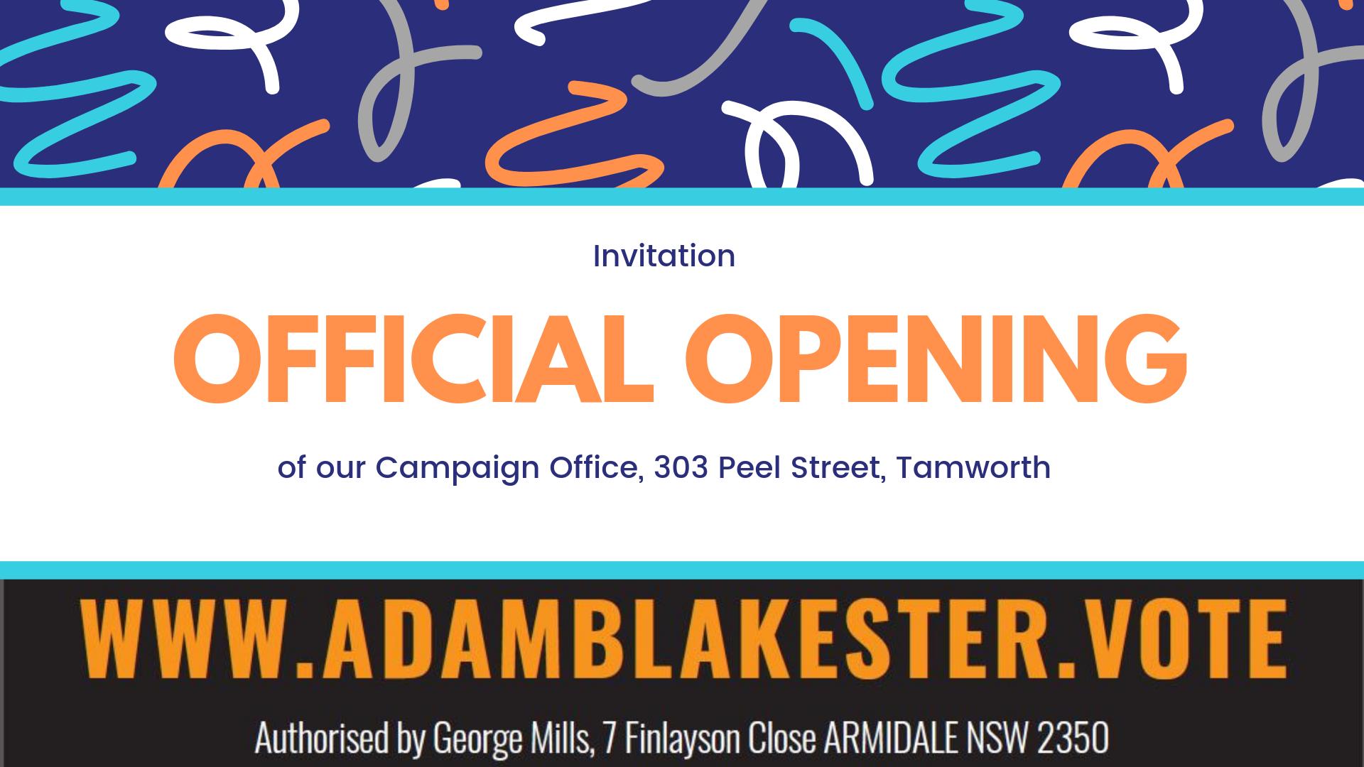 Tamworth Office Launch