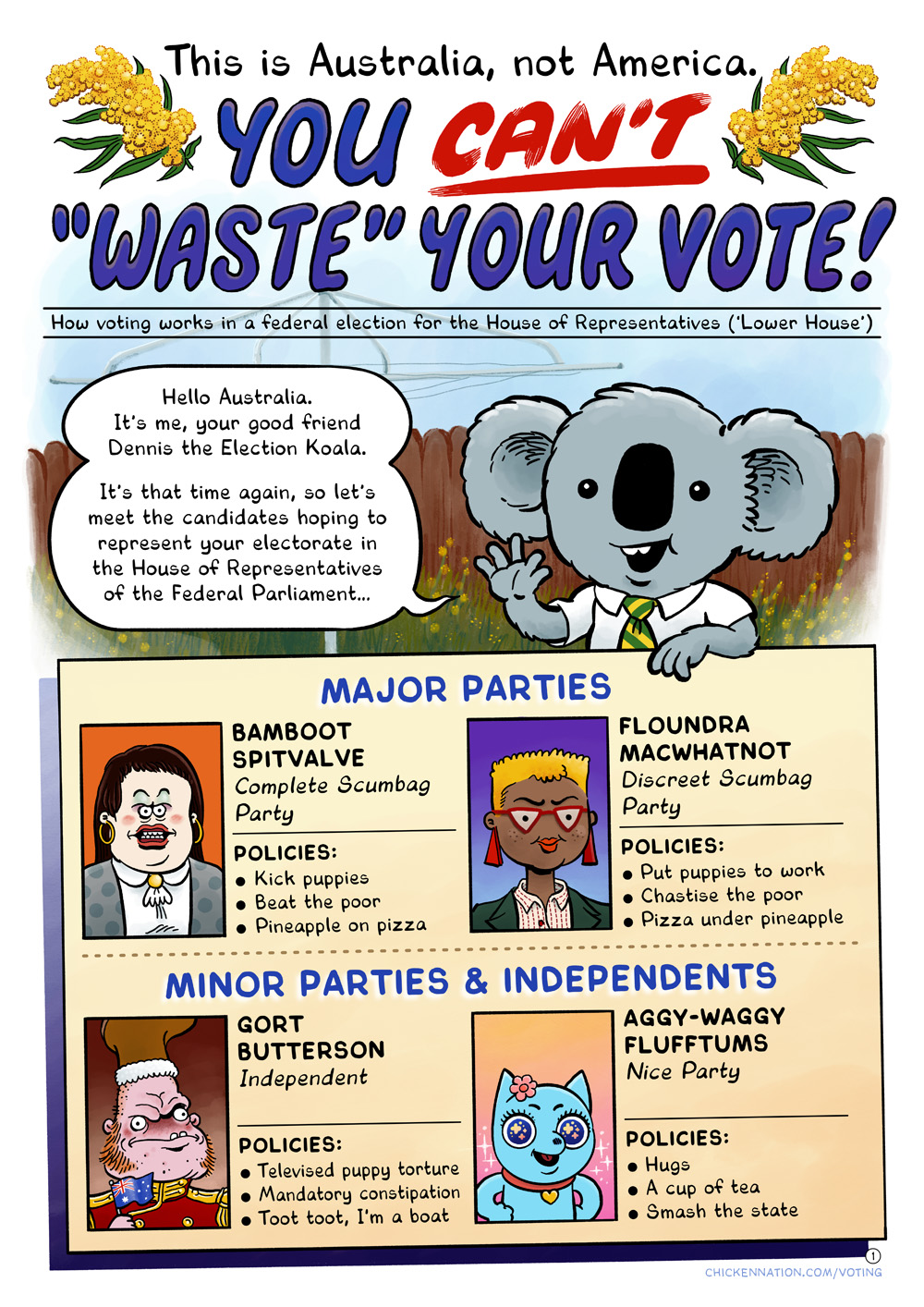You cant waste your vote. 01