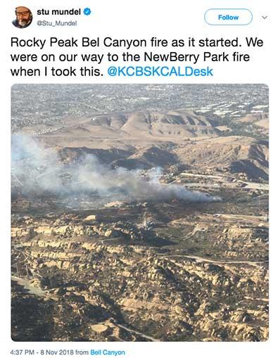 Rocky Peak Bell Canyon Fire