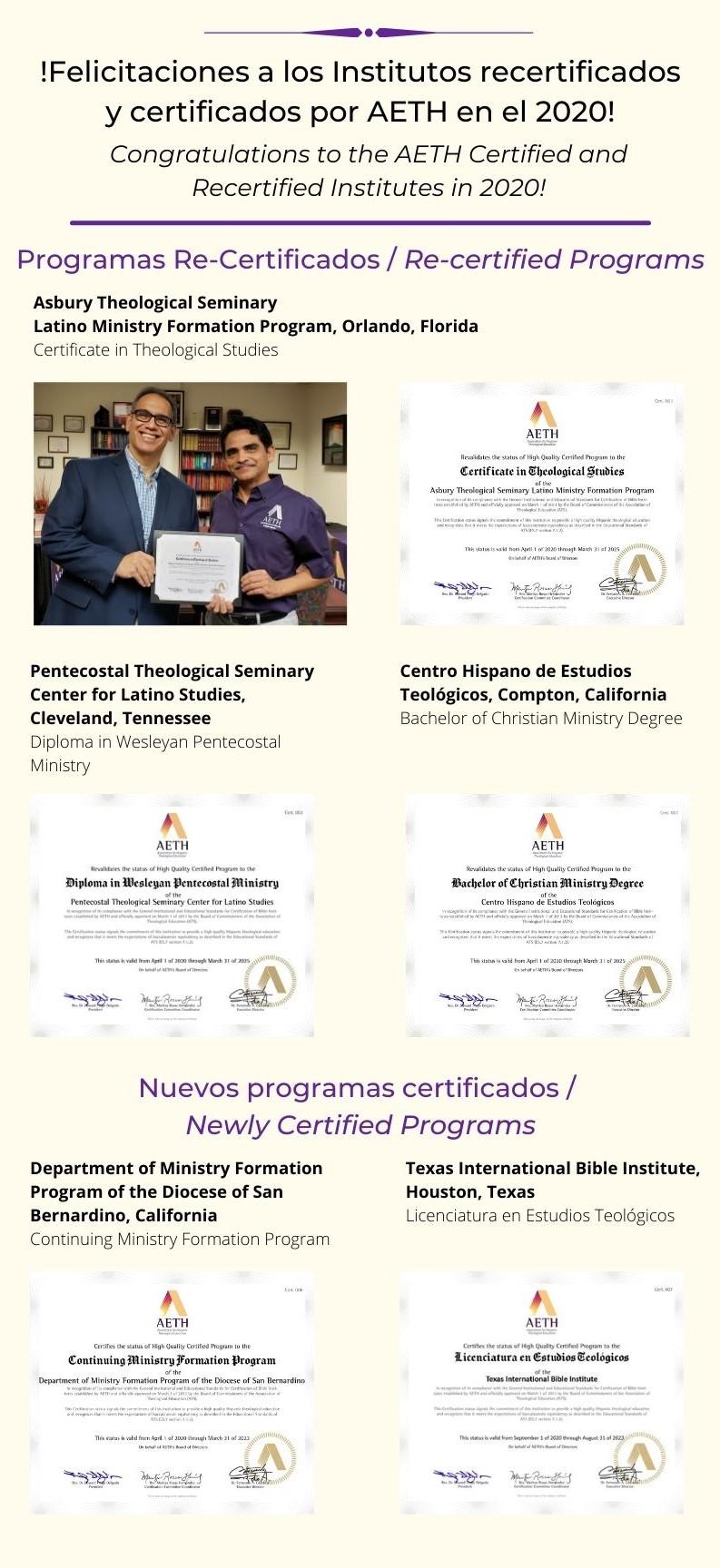 AETH Comunidad Cristiana Teológica Hispana Latina