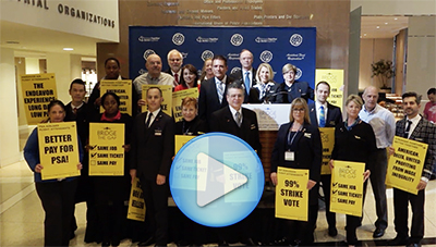 Flight Attendants and Labor Allies Rally to Bridge the Gap