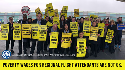 Huge Turnout in Chicago for AFA Air Wisconsin Flight