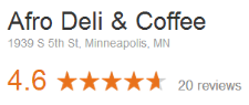 Afro Deli Reviews on Google
