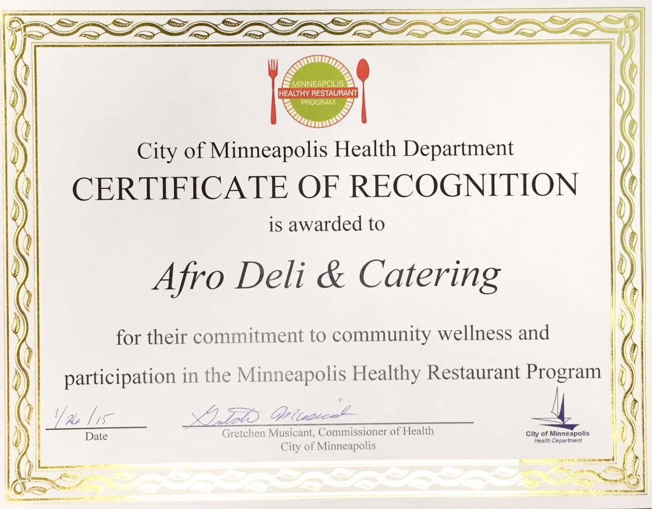 Better Bites: Afro Deli & Minneapolis Health Department