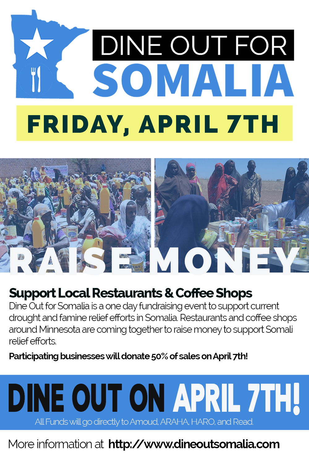 Dine Out For Somalia Poster