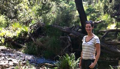 Ellen in forest