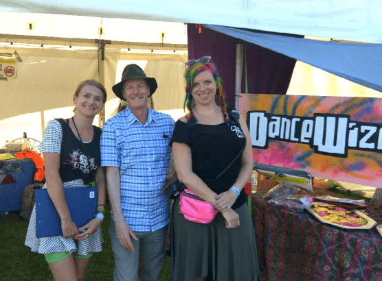 Tim with the DanceWize crew promoting safety at festivals.