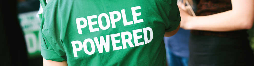 T-Shirt with People Power across the back